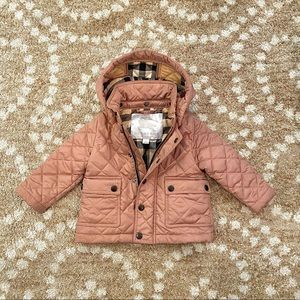 NWOT Burberry Pink Quilted Jacket